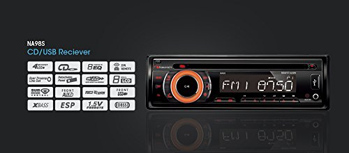 NAKAMICHI NA300IR CD MP3 WMA SD USB iPOD iPHONE RDS AUX IN Car Stereo Player 32K variable color display & illumination 5V Front & rear pre- out / 5V sub-wout