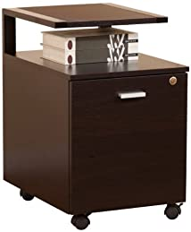 Enitial Lab Bury File Cabinet Dark Espresso