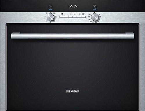 Siemens HB34D553 Backofen Elektro / A / 35 Liter / 45 cm hoher Einbau-Dampfbackofen zum Dampfgaren, Braten und Backen mit Heißluft oder kombiniert / Edelstahl