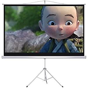 douself Portable 100 16:9 Projection Projector Screen Tripod Pull-up Matte White