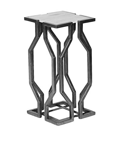 Prima Design Source Open Geometry Accent Table, Pewter