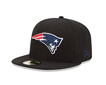 NFL New England Patriots Black and Team Color 59Fifty Fitted Cap by New Era