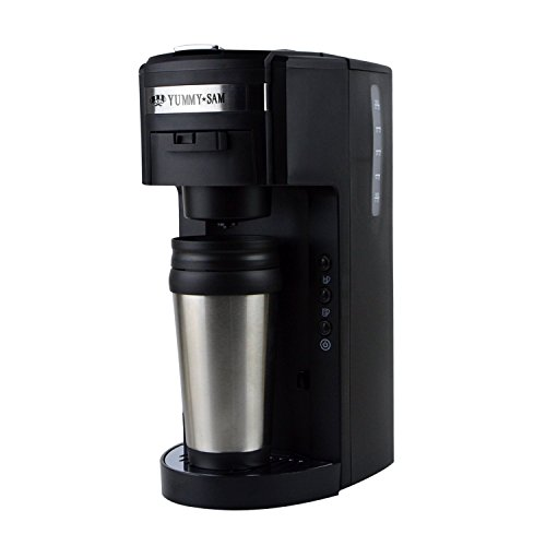 Single Serve Coffee Maker That Uses Ground Coffee : 2-in-1 K-cup capsule machine Yummy Sam Ground Coffee Single Serve Coffee Maker with Hydroforce Ext