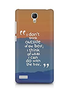 AMEZ i dont think out of the box Back Cover For Xiaomi Redmi Note
