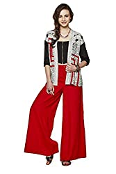 global desi Women's Rayon Jacket (X24380-JK-500_White_XX-Large)