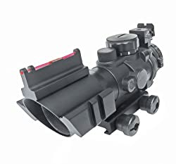 Sun Optics USA CQB 4X32 Prismatic IR W/Fiber Optic Sights Red/Green/Blue Reticle