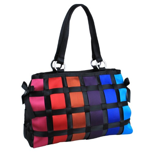 Ecosusi Women Designer Checkered Rainbow Seatbelt