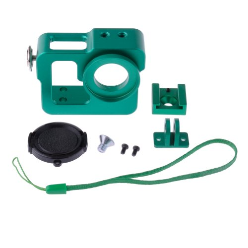 Neewer Green Aluminium Protective Housing Case Border Shell with 37mm Lens Cap for GoPro Hero 3 3+