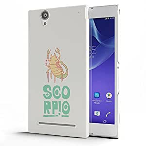Koveru Designer Printed Protective Snap-On Durable Plastic Back Shell Case Cover for SONY XPERIA T2 Ultra - Scorpio