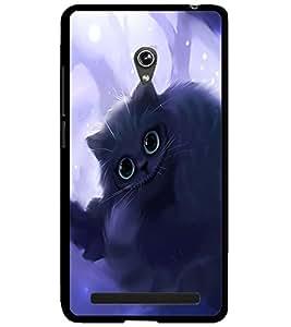 ColourCraft Cute Cat Design Back Case Cover for ASUS ZENFONE 6 A600CG