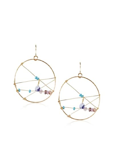 Taryn Reed Stone Geometric Hoop Earrings