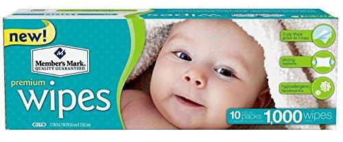 Members Mark Premium Diaper Baby Adult Wet Wipes 1000 Ct