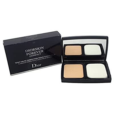 Christian Dior Forever Compact Flawless Perfection Fusion Wear SPF25 #023 Peach Makeup for Women, 0.35 Ounce