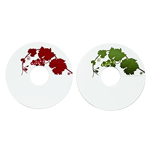 True Fabrications Paper, Blank, Wine Glass Tags With Pen To Easily Identify Wine -Set Of 24, Round front-169409
