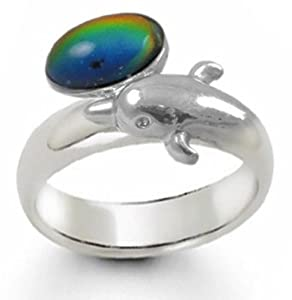 Magic Dolphin Band Mood Ring (Adjustable Size)