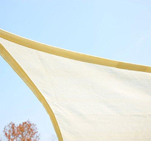 Homcom - Toldo vela cuadrado (varios tamaños y colores), tamaño 3x3m, color crema