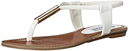 Steve Madden Hamil Sandali con cinturino alla caviglia, Donna, Bianco (White), 38