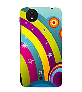 Rainbow Design Pattern 3D Hard Polycarbonate Designer Back Case Cover for Micromax Android A1 :: Micromax Canvas A1 AQ4502