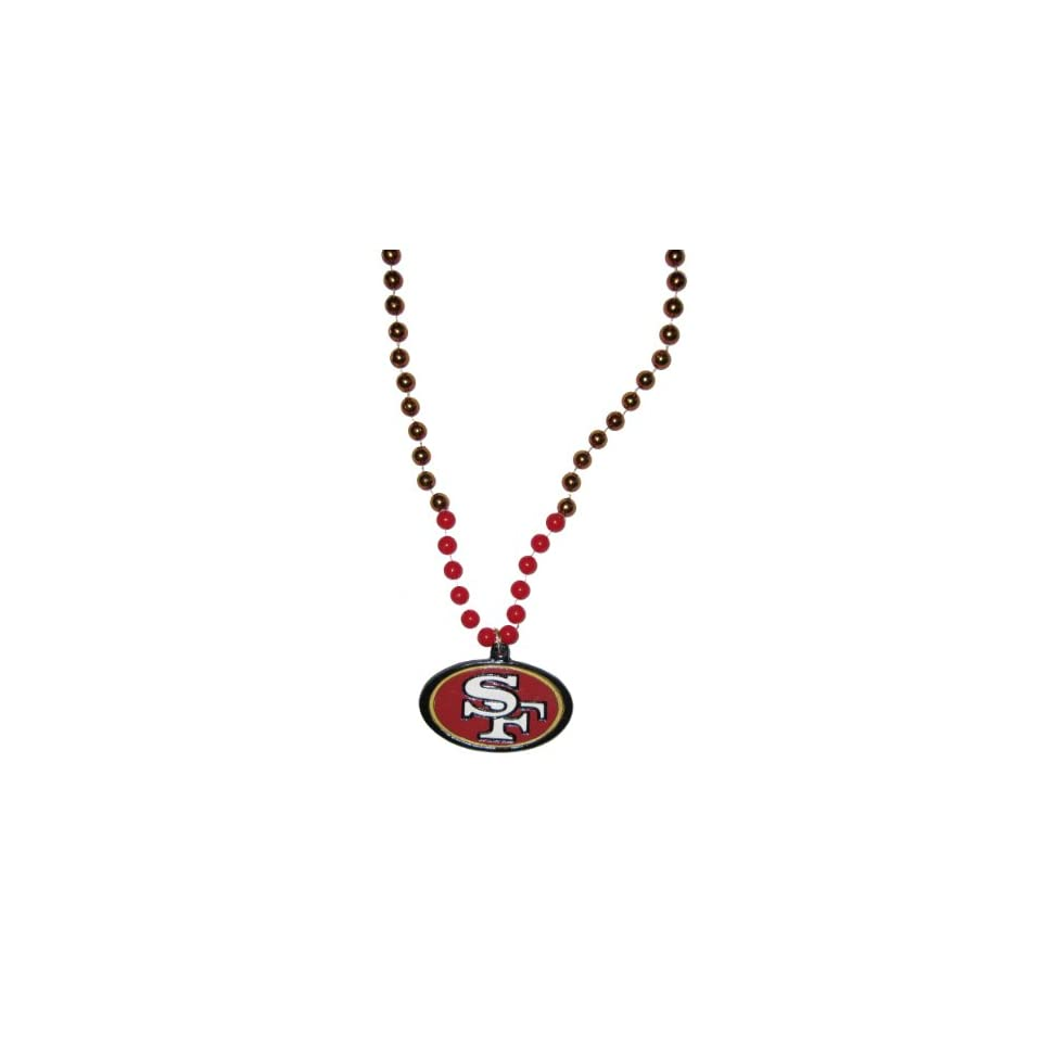 1cadc69c9 San Francisco 49ers NFL Bead Necklace with Team Medallion on PopScreen