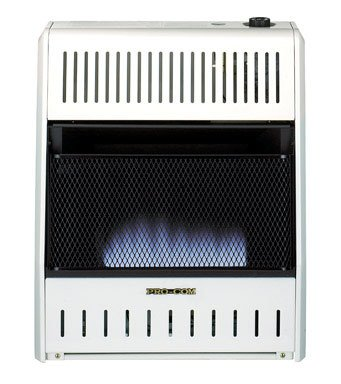 PROCOM Blue Flame Wall Heater - 20,000 BTU Output, 700 Sq. Ft. Heating Capacity (Procom Blue Flame Heater Blowers compare prices)