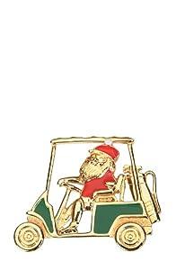Santa Driving Golf Cart Pin-Navika Holiday Designs
