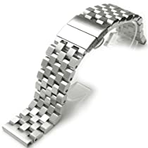 24mm SUPER Engineer Type II Solid Stainless Steel Watch Band Deployment Clasp