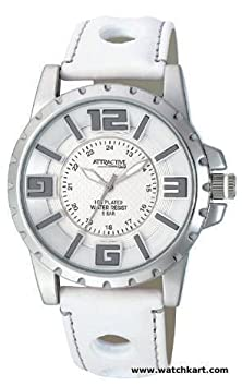 buy Q And Q Attractive Analog White Dial With Men'S Watch Ion-Plated