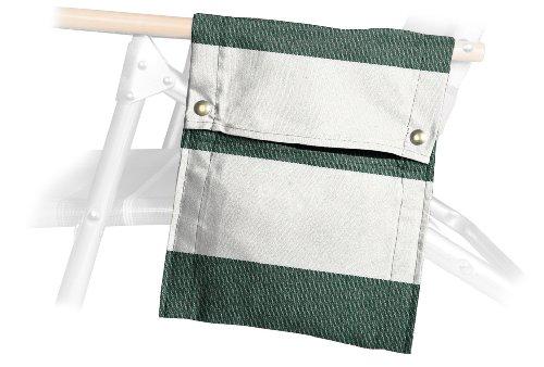 Telescope Casual Beach Chair Side Bag, Cabana Green/White