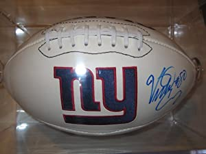 Victor Cruz New York Giants Signed Autographed Logo Football Authentic Certified Coa