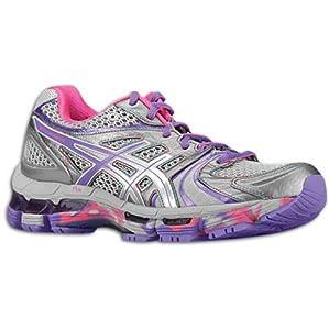 Asics Women's ASICS GEL-KAYANO 18 RUNNING SHOES (7.5, Titanium/Purplemist)