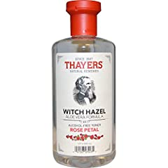 Thayers Rose Petal Alcohol-Free Witch Hazel with Aloe Vera Formula Toner will make your skin bloom. Rose Thayer's remarkably soothing Toner is made with rose-petal water, Vitamin E and our proprietary Witch Hazel extract.  Ingredients: Purifi...