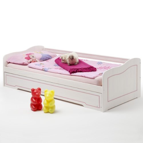 rezension funktionsbett stella kiefer massiv wei rosa. Black Bedroom Furniture Sets. Home Design Ideas