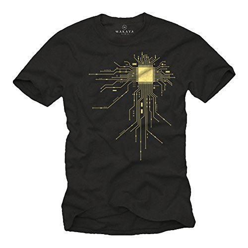 GEEK CPU - Maglietta Nerd Regali Big Bang Theory T-Shirt Nera XL