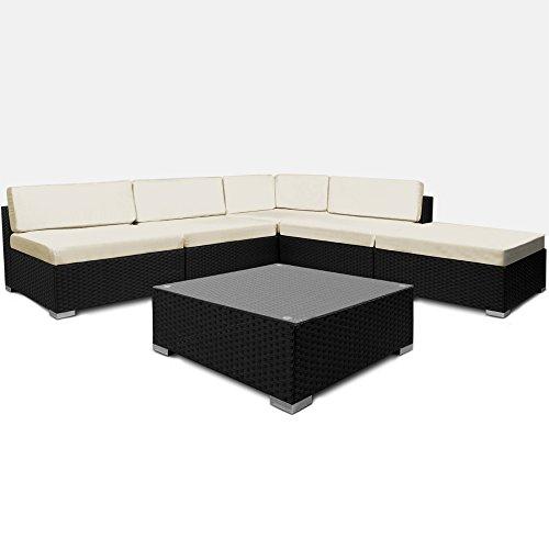 16tlg-PolyRattan-Lounge-Set-XXL-Sitzkissen-Sitzgarnitur-Sitzgruppe-Gartenmbel-Gartengarnitur-Garten-Rattan
