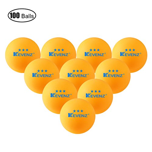 Kevenz 3 star 40mm table tennis balls 100 pack orang for 100 table tennis balls