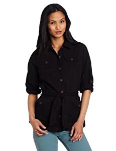 Royal Robbins Women's Cool Mesh Shirt Jacket, Jet Black, X-Small