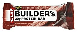 Builder Bars Chocolate Hazelnut 12(2.4 oz.)bars per box