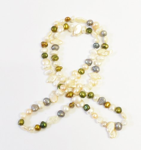 Freshwater Cultured Pearls Necklace 31 Inches Round