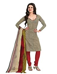 EQ Women Pure Cotton Beige Color Salwar Suit. - B00X9V1R3G