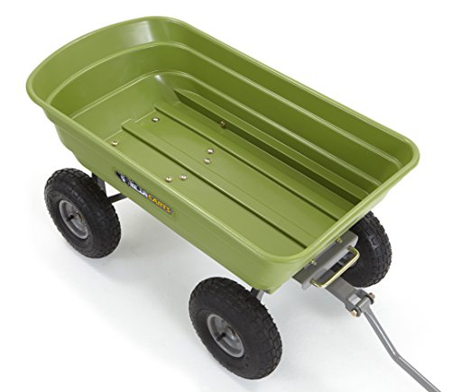 Gorilla Carts Poly Garden Dump Cart With Steel Frame And