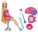 Barbie - Peinados de color, set de accesorios para mu�ecas (Mattel X7888)