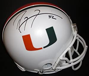 Ray Lewis Autographed Hand Signed Miami Hurricanes UM Full Size AUTHENTIC Riddell... by Real+Deal+Memorabilia