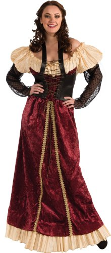 Rubie's Costume Plus-Size Deluxe Dungeon Damsel 1x Renaissance Costume