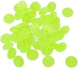 50pcs Marqueurs de Balle de Golf Ronds en Plastique Transparent Jaune
