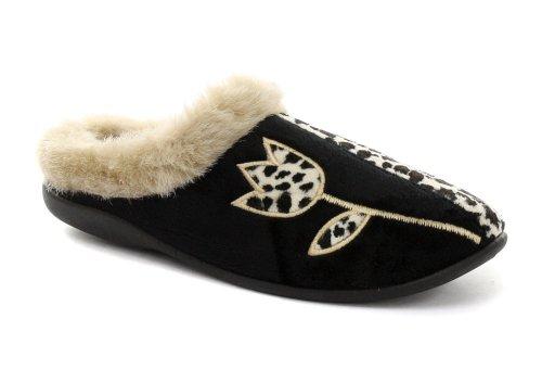 Cheap Dunlop Jasmine Leopard Womens Slipper Mules (B005PN7FEG)