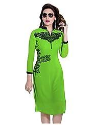 Surat Tex Green Color Faux Georgette Party Wear Embroidered Kurti-E339KI1001SMXL