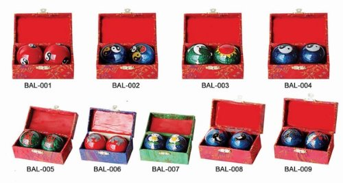 Assortment of One Dozen (12) #5 Chinese Healthy Exercise Massage Metal Balls