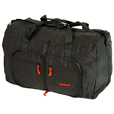 Large 80 Litres Foldable Cargo Travel Bag (Black)