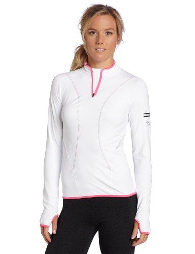 Gore running wear women 39 s air zip shirt white hot pink for Hot pink running shirt