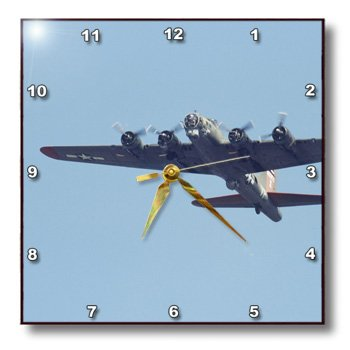dpp_97120_1 Danita Delimont - War Planes - B-17 G Flying Fortress, War plane - US50 BFR0041 - Bernard Friel - Wall Clocks - 10x10 Wall Clock